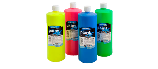 Derivan Fluoro UV Paint Bottles