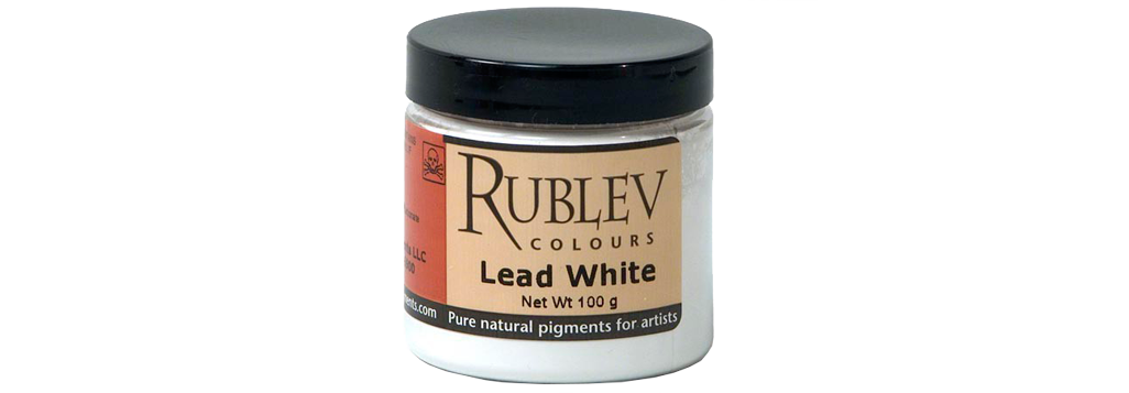 Rublev Dry Pigment 100g Jar in Colour Lead White
